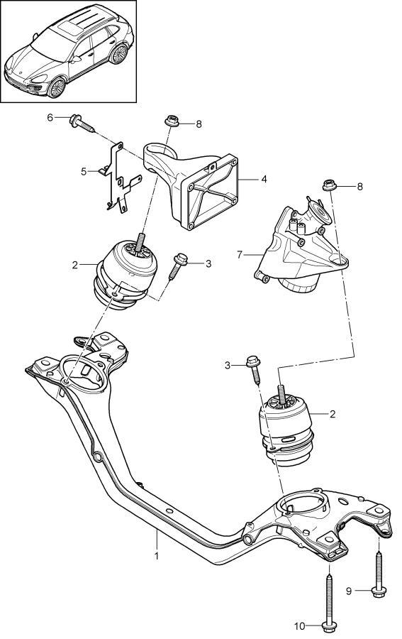 Porsche Cayenne Hydraulic mount. HYDROMOUNTING