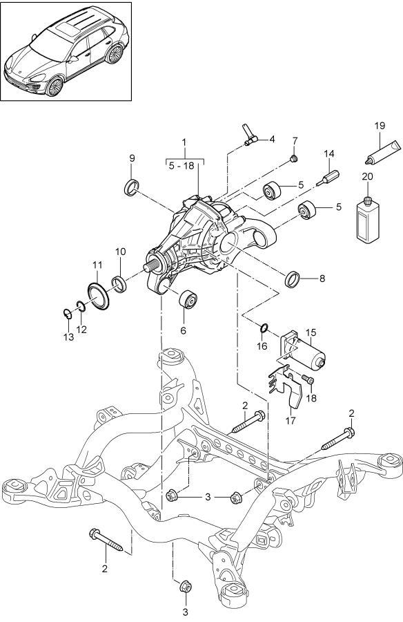 2012 Porsche Cayenne Circlip. Transfer, Cardan