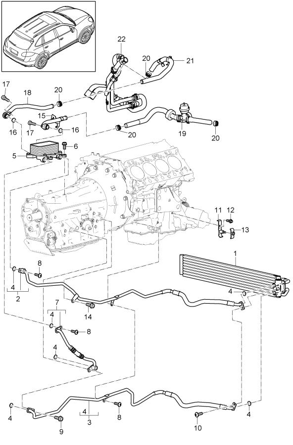 Porsche Cayenne Drive Motor Inverter Radiator Hose