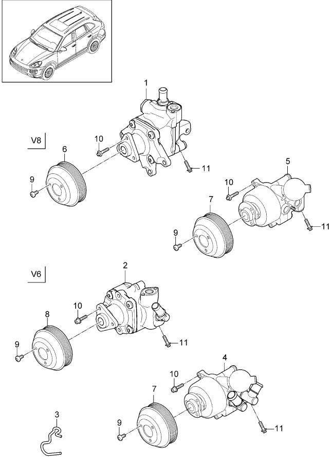Porsche Cayenne Tandem pump. Powersteering, WActive