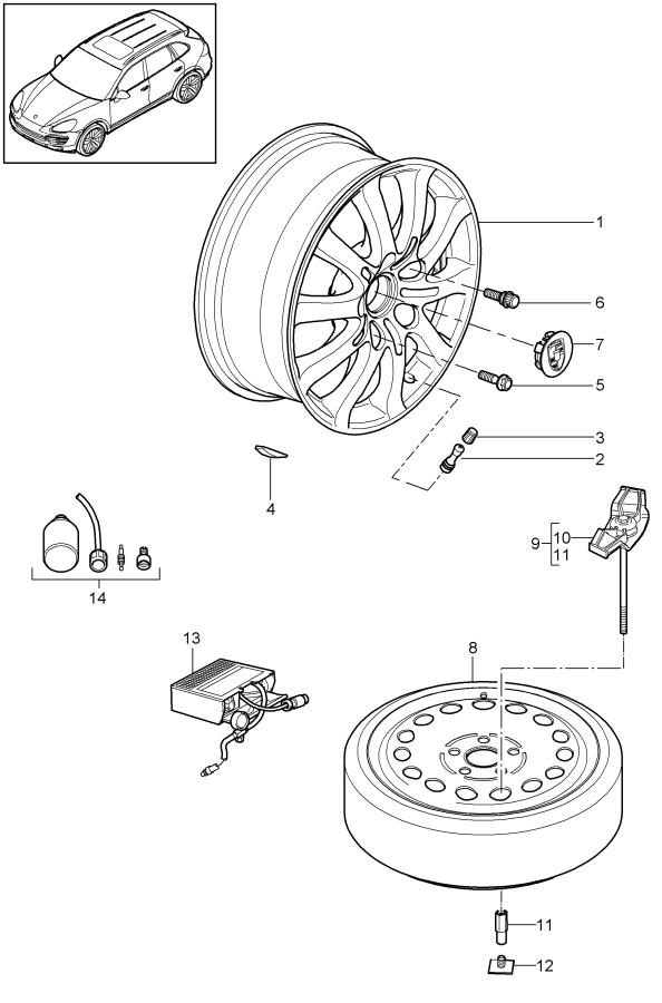 2014 Porsche Silver round it is necessary to rework hub
