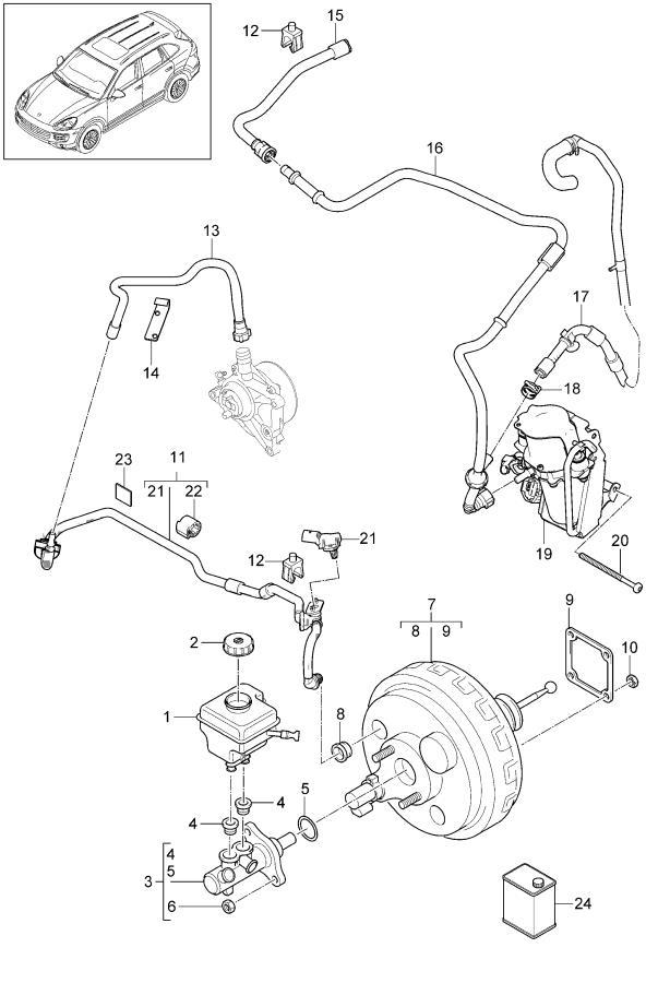 2013 Porsche Cayenne Sensor brake light switch. STOP LIGHT