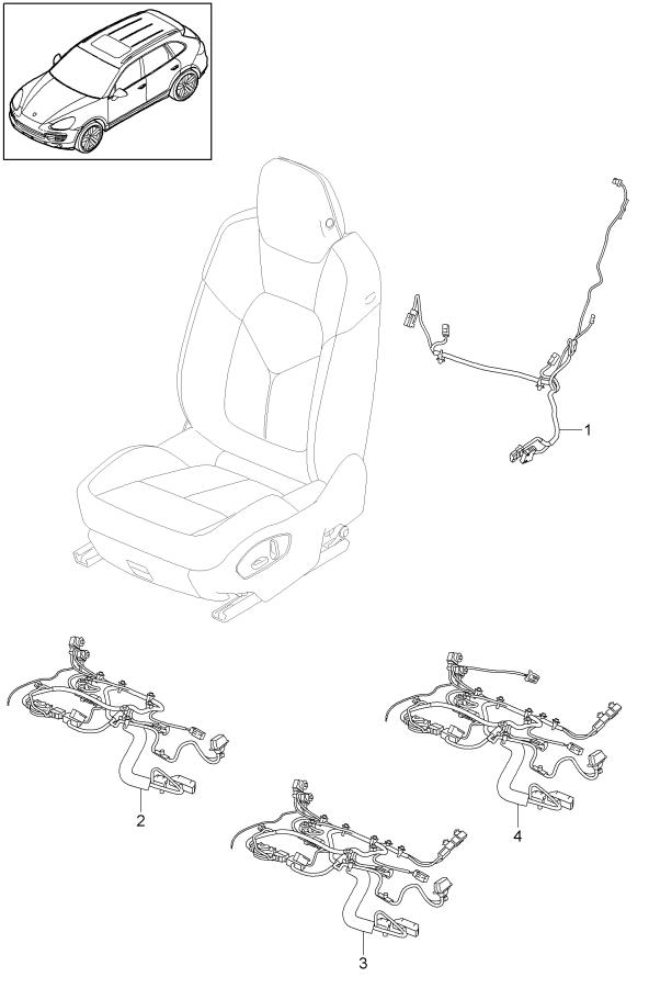 Porsche Cayenne Without heating wiring harness sports seat