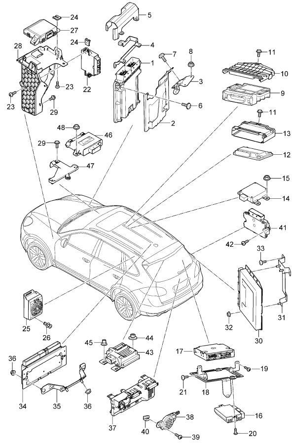 Porsche Cayenne Mount finger plate expander nut. FASTENING