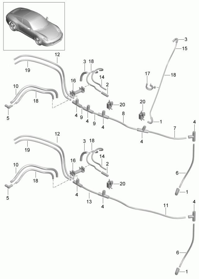Porsche 911 Secondary Air Injection Control Valve. 3.4, 3