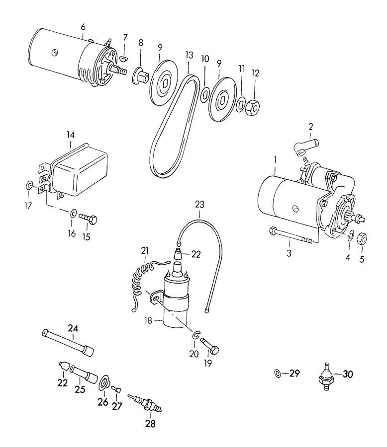 Porsche 356/356A Nut impeller hexagon nut generator for