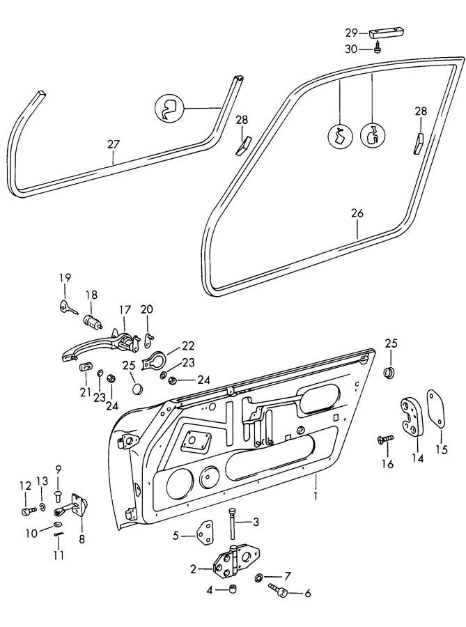 1966 Porsche 912 Thrust wedge door lock striker