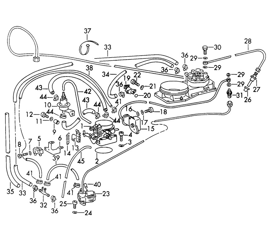 Porsche 911 Turbo/GT2 injection system with fuel line