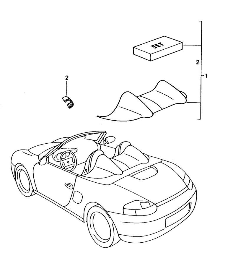 Porsche Boxster velcro strip. TAPE. Rollover, Behind