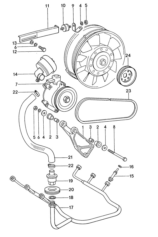 Porsche 911 A. I. R. Pump. Air pump. 911; w/o turbo