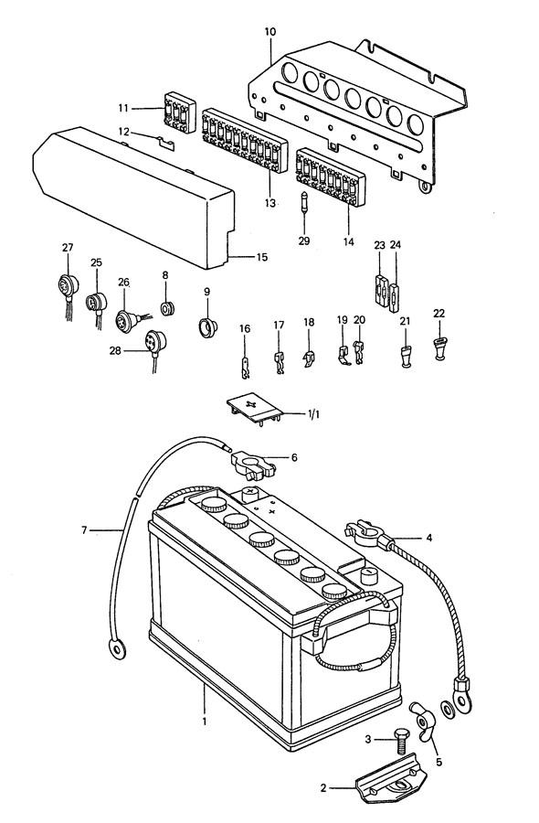 Porsche 911 Fuse box 10-pole 10-fold. 10 POLE