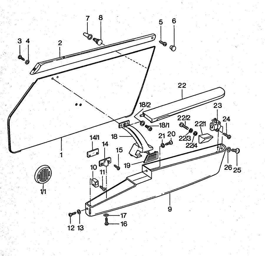 1975 Porsche 911 pan-head screw. CHEESE-HD. SCREW