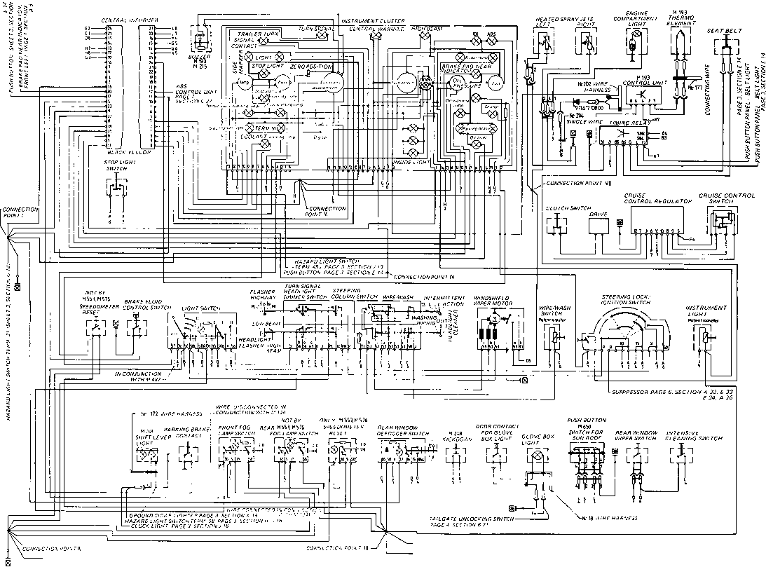 porsche 928 wiring diagram hunter fan light switch type s model 84 page - flow