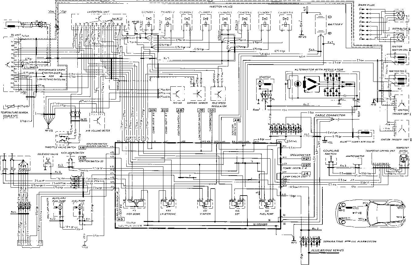 1982 porsche 928 starter wiring
