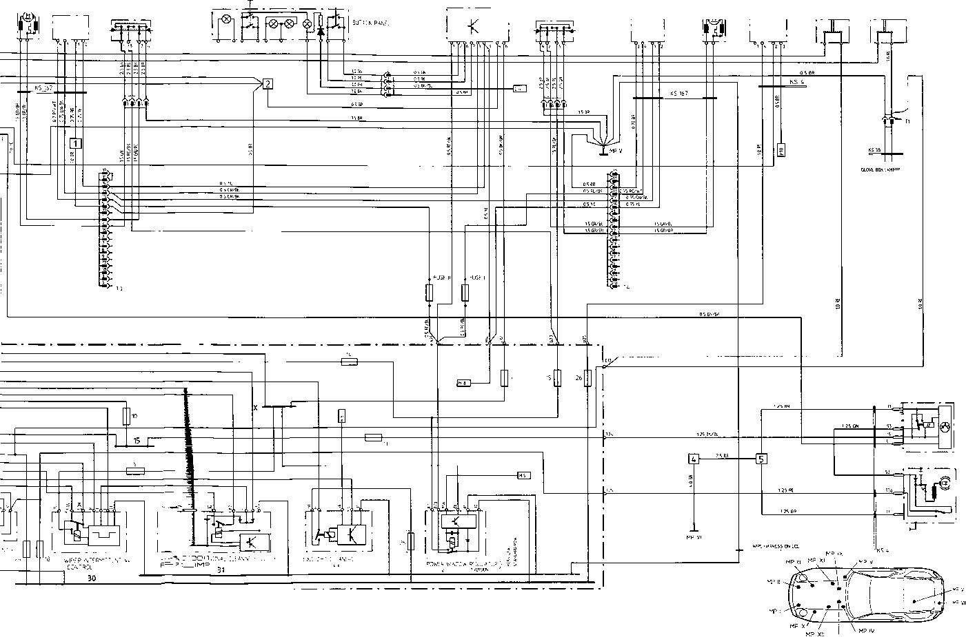 porsche 924s wiring diagram