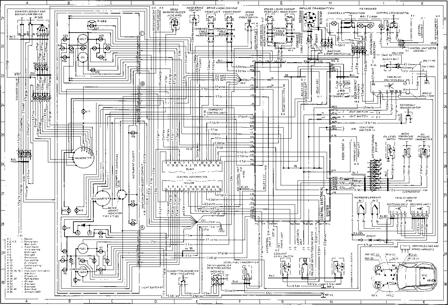 porsche 928 s4 wiring diagram