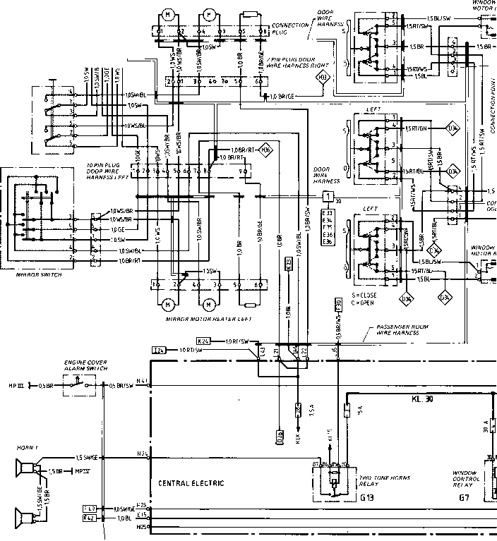 Wiring Diagram Type 944944 Turbo Model 852 Page I Porsche 944