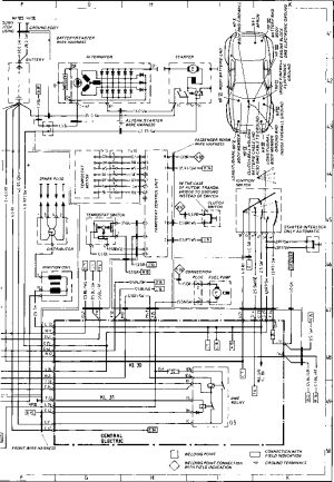 Wiring Diagram Type 944944 turbo Model 86 Sheet  Porsche 944 Electrics