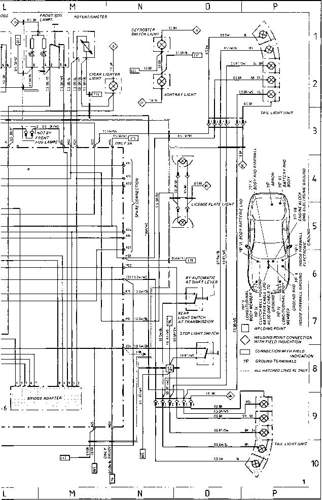 wiring diagram 1983 porsche 944