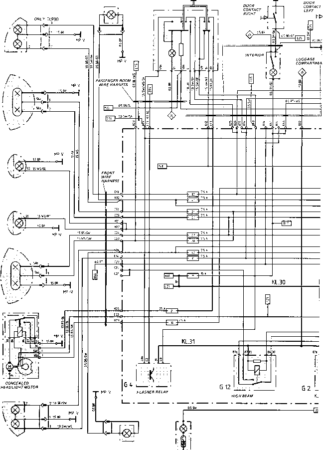Porsche 944 Wiring Diagram Hazard Lights : 40 Wiring