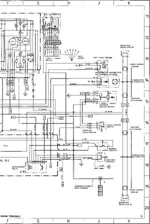 Wiring Diagram Type 944944 turbo 944 S Model 87  Porsche