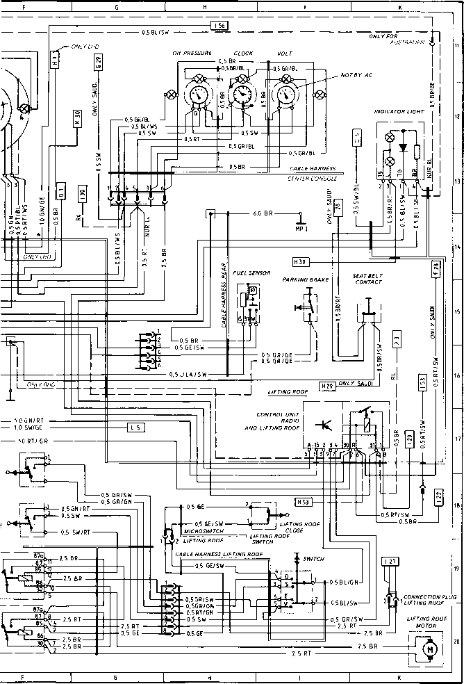 porsche 944 alternator wiring diagram