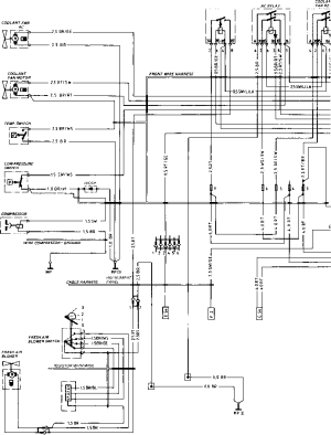 Wiring Diagram Type 924 S Model 86 Sheet  Porsche 944