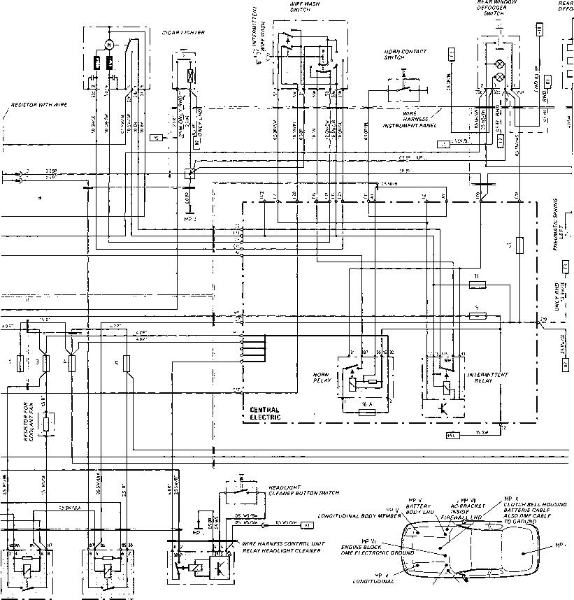 porsche 911 headlight relay