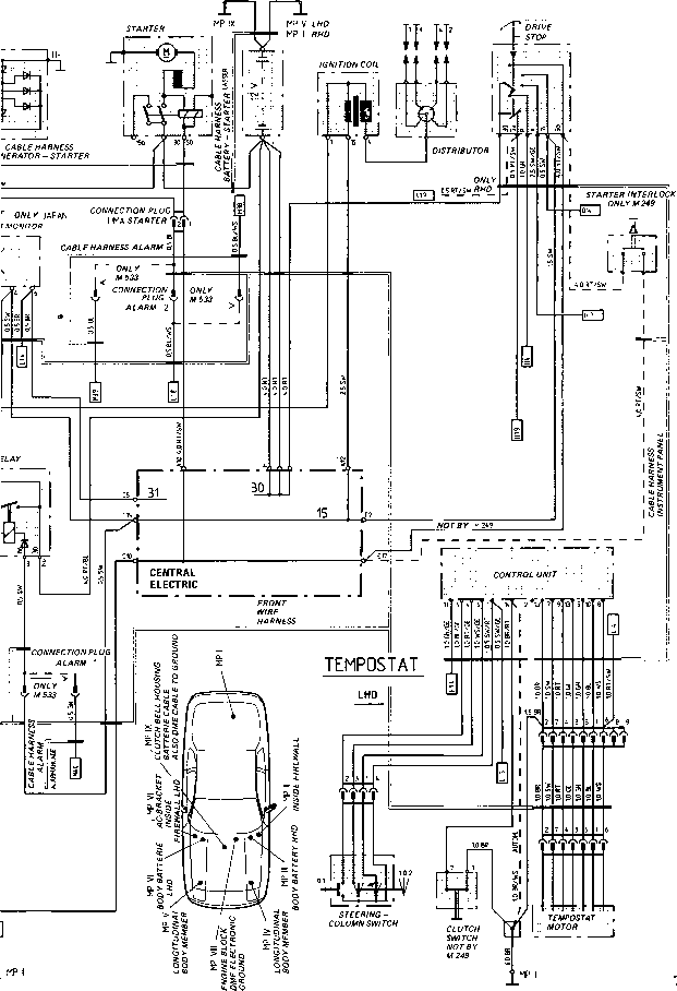 porsche 996 alarm wiring diagram labeled phase change type 924 s model 87 sheet 944 electrics center console