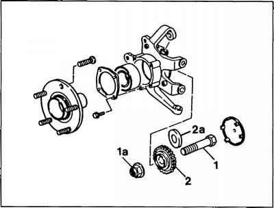 Wheel hub to wheel bearing screw connection General