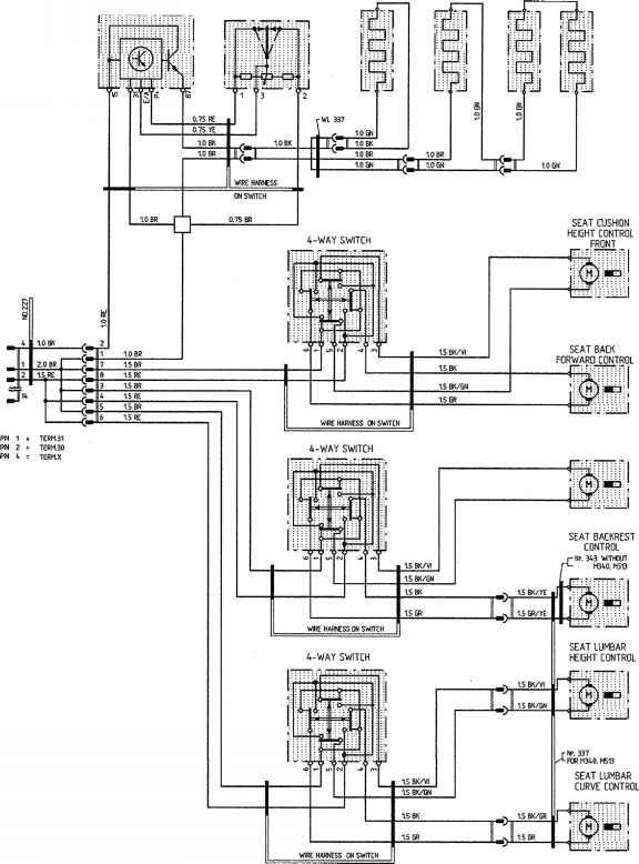 porsche 911 window switch wiring