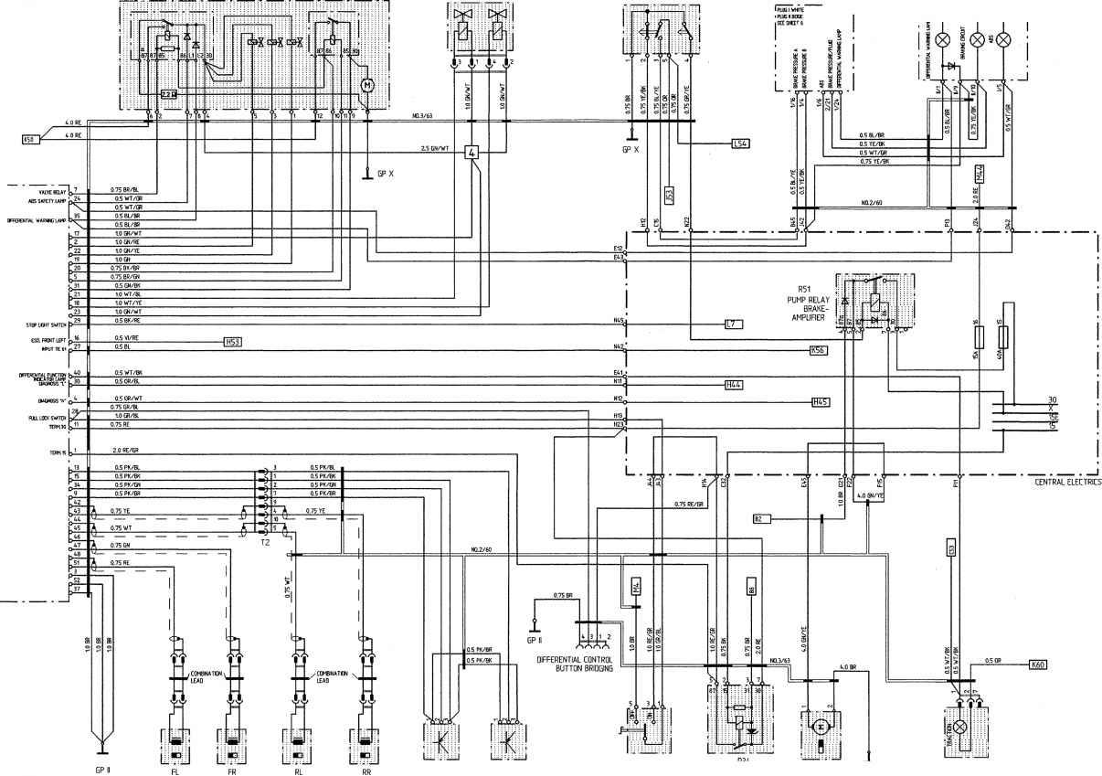 porsche 911 964 wiring diagram headlight relay abs schematic library harness
