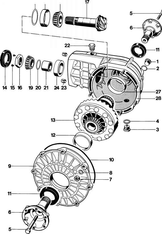 Disassembling and assembling frontaxle final drive