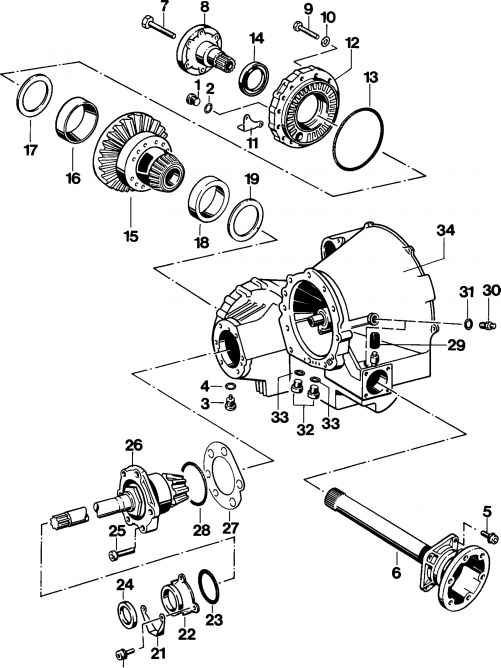 Removing and installing differential and drive pinion