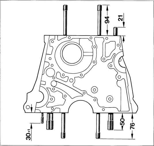 Crankcase Installation length or protrusion length of