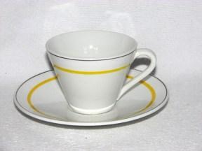 D, gul rand, kaffekopp