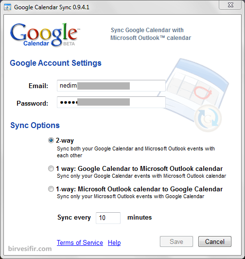 Google Calendar Sync tool