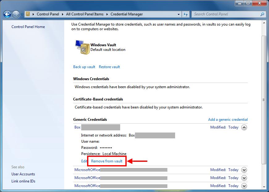 Windows Credential Manager | port135 com