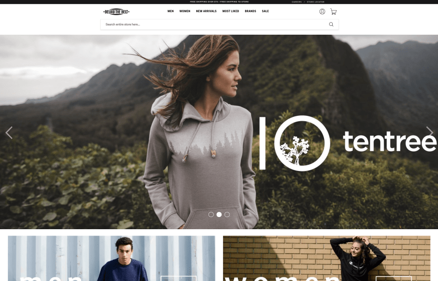 Below The Belt Shopify Plus Design