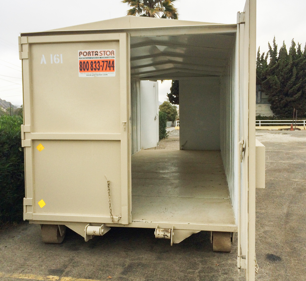22ft container with doors on both sides.