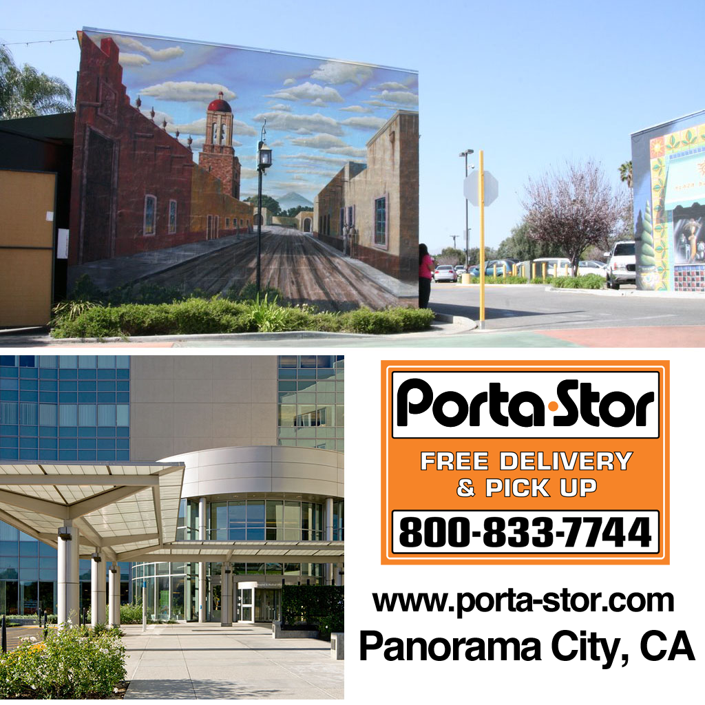 rent portable storage containers in panorama city