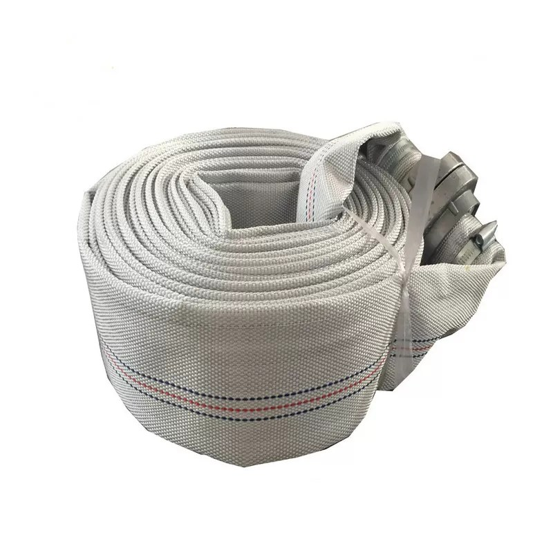 White Fire Hose Reel And Cabinet Fire Hydrant Hose 10m