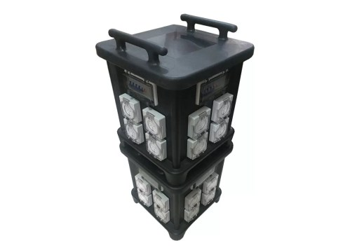 small resolution of 63 amp portable industrial socket box with protection and inner wiring audio live use control system ip66 stackable