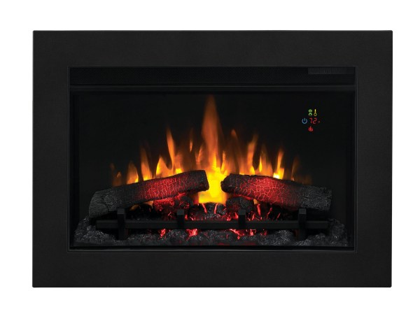 26'' ClassicFlame Fixed Glass Contemporary Electric Fireplace Insert - 26EF023GRG-201