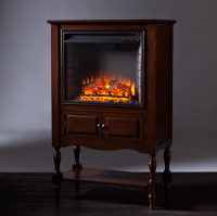 "32.25"" Providence Mahogany Electric Fireplace Tower ..."