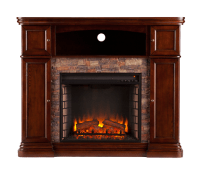 "47.5"" Hillcrest Faux Stone Electric Media Fireplace ..."