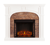 "45.75"" Tanaya Stacked Stone Effect Electric Fireplace ..."