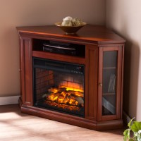 "48"" Claremont Corner Media Infrared Fireplace - Brown ..."