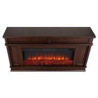 "60"" Torrey Dark Walnut Electric Fireplace :: Real Flame ..."