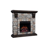"40"" Pioneer Brushed Dark Pine Stone Electric Fireplace"